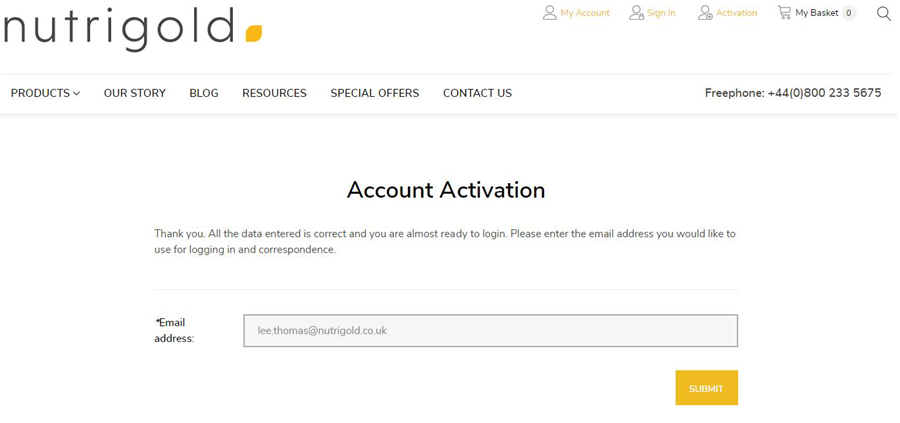 step 3 - enter your email address