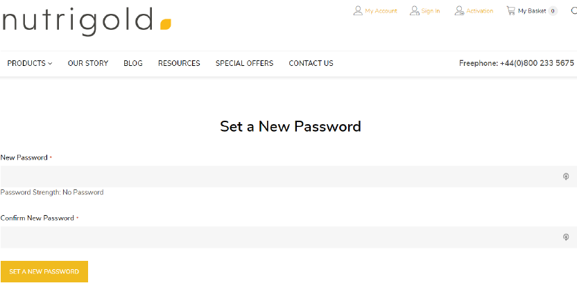 step 5 - set up your password