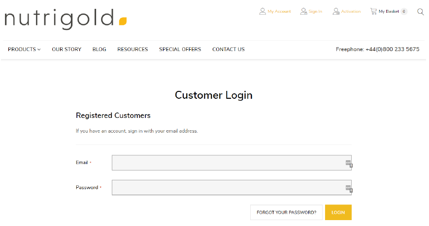 step 6 - login to your new account